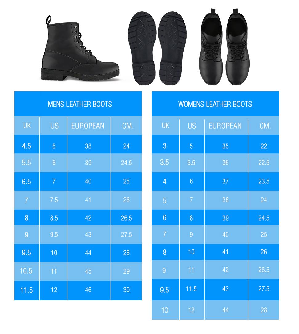 Leather Boots Sizing Sizing